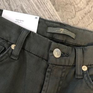 7 For All Mankind Jeans - NWT 7 For All Mankind Green Super Skinny Jeans